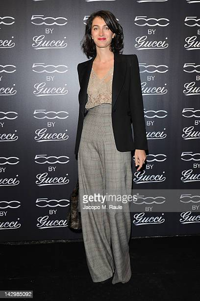 Marta Ferri attends 500 by Gucci Short Film Collection cocktail party on April 16 2012 in Milan Italy