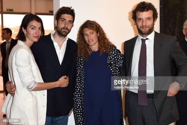 Marta Ferri Carlo Borromeo Ginevra Elkann and Giovanni Gaetani dell'Aquila d'Aragona attend at the Mario Testino Exhibition Opening at the Pinacoteca...