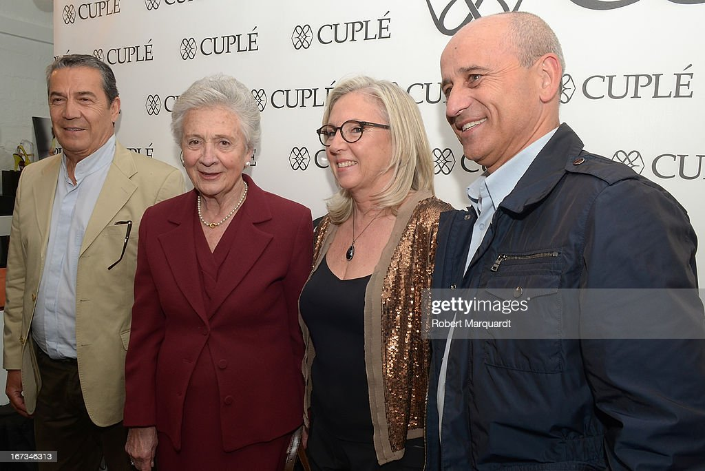 Marta Ferrusola (2ndL) attends the Cuple store opening on April 24, 2013 in Barcelona, Spain.