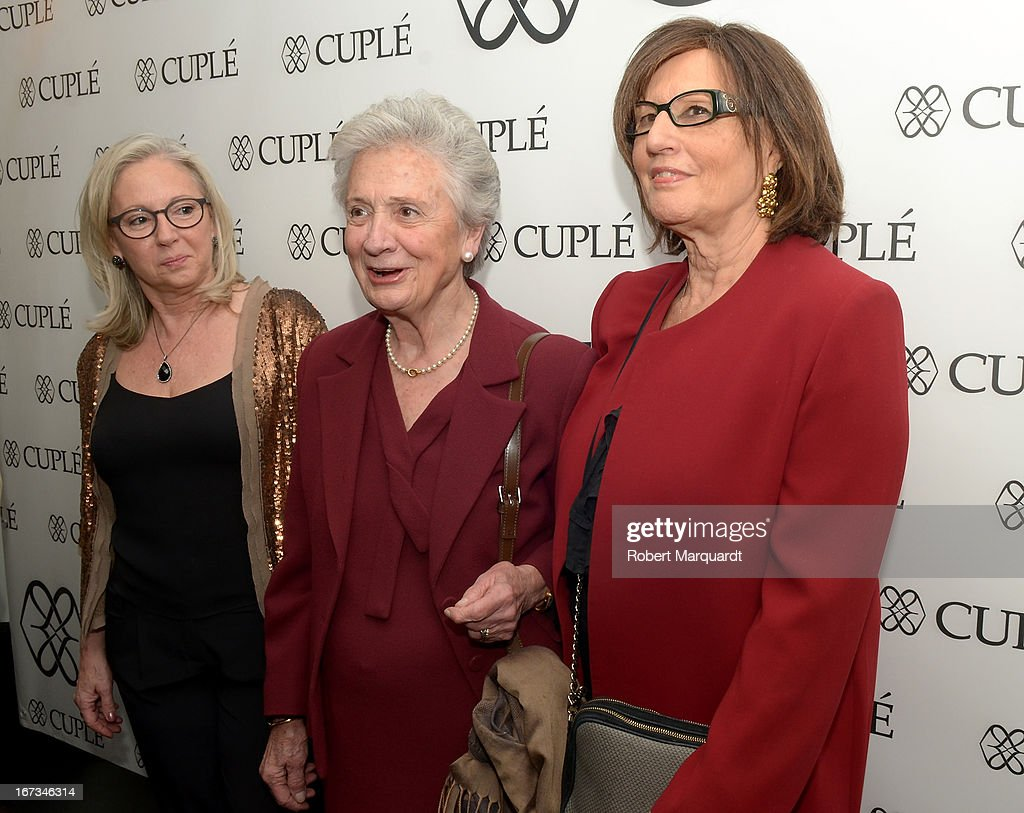 Marta Ferrusola (C) attends the Cuple store opening on April 24, 2013 in Barcelona, Spain.