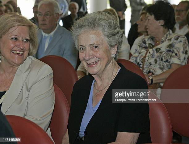 Marta Ferrusola attends the funeral for Paco Flaque founder of Gaudi Moda and Gaudi Novias on June 25 2012 in Barcelona Spain