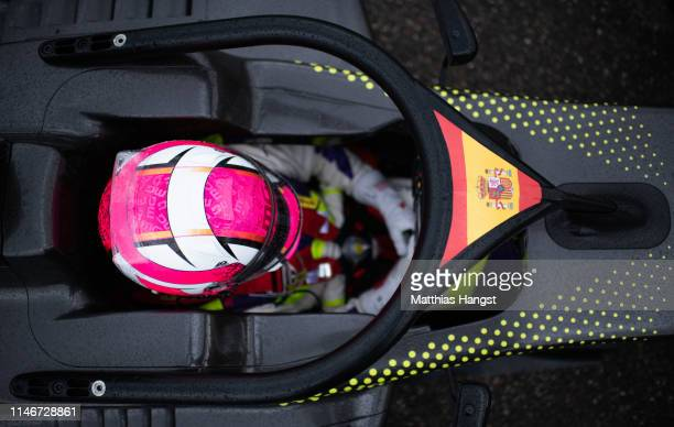 Marta Garcia of Spain seen during a training session prior to the first race of the W Series at Hockenheimring on May 03, 2019 in Hockenheim,...