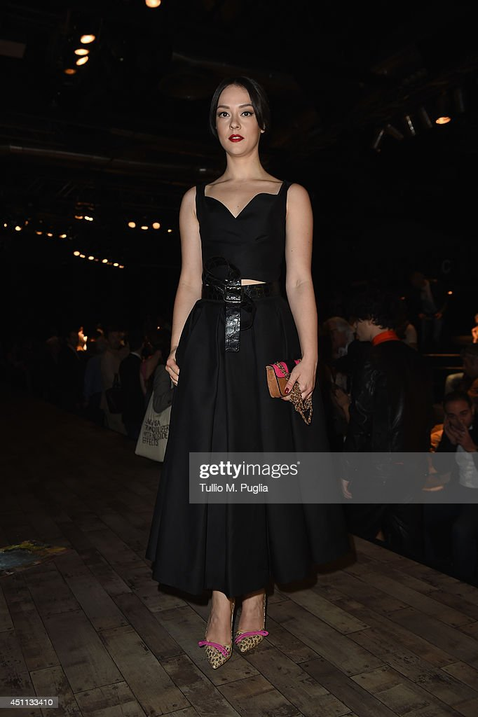 Marta Gastini attends DSquared2 show during Milan Menswear Fashion Week Spring Summer 2015 on June 24, 2014 in Milan, Italy.