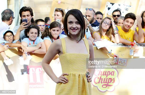 Marta Gastini attends Giffoni Film Festival blue carpet on July 26 2014 in Giffoni Valle Piana Italy