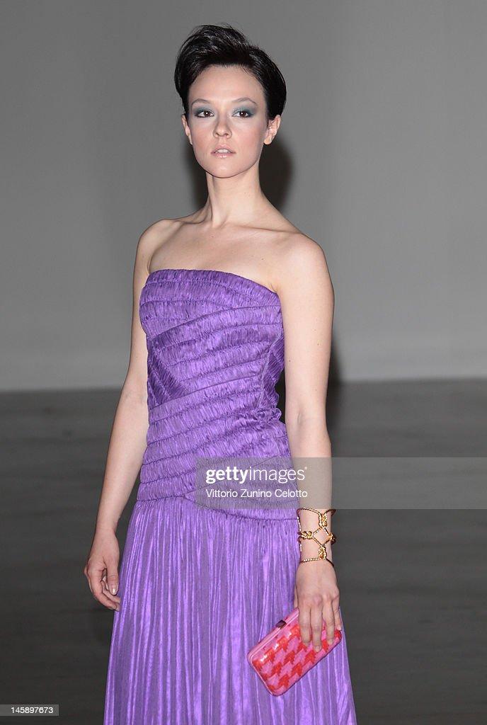 Marta Gastini attends the 2012 Convivio charity gala event on June 7, 2012 in Milan, Italy.