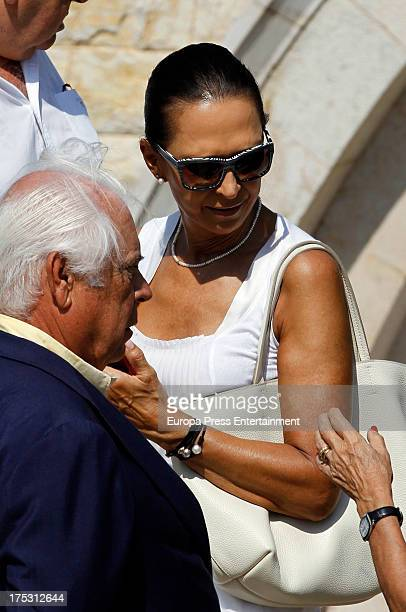 Marta Gaya attends Countess Of Pernia Maria Cencillo GonzalezCampo's funeral on July 24 2013 in Mallorca Spain