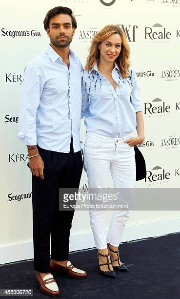 Marta Hazas and Diego Osorio attend Jorge Vazquez Catwalk at French Ambassador Residence on September 11 2014 in Madrid Spain