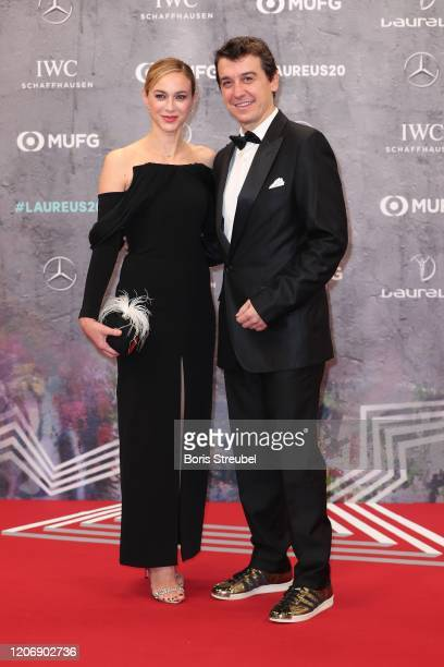 Marta Hazas and Javier Veiga attend the 2020 Laureus World Sports Awards at Verti Music Hall on February 17 2020 in Berlin Germany