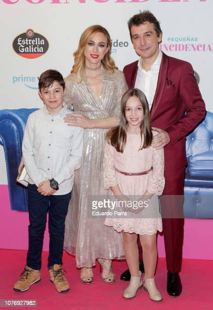 Marta Hazas and Javier Veiga attend the 'Pequenas coincidencias' photocall at Palacio de la Prensa cinema on December 03 2018 in Madrid Spain
