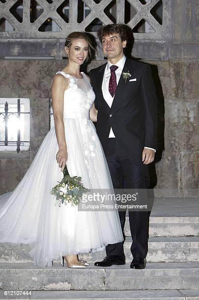 Marta Hazas and Javier Veiga attend their wedding ceremony at Palacio de la Magdalena on October 1 2016 in Santander Spain