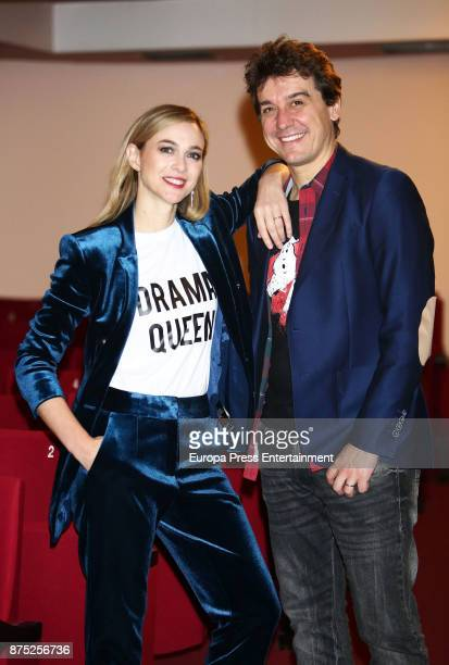 Marta Hazas and Javier Veiga during the '5 y Accion' play presentation at Reina Victoria theater on November 16 2017 in Madrid Spain