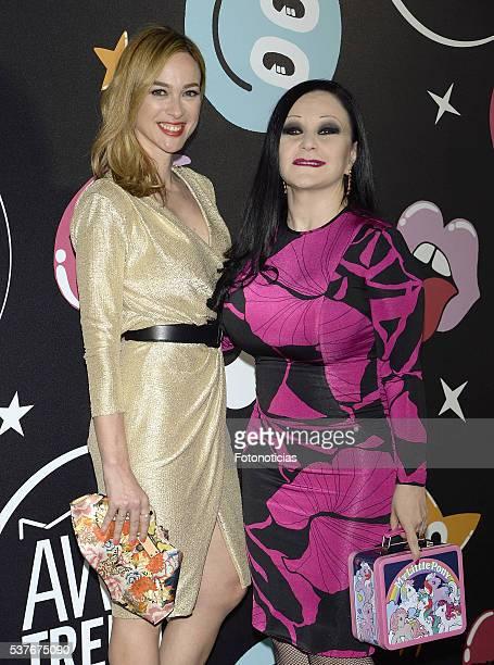 Marta Hazas and Olvido Gara, Alaska, attends MAC Cosmetics event at the Jardines de Cecilio Rodriguez on June 2, 2016 in Madrid, Spain.