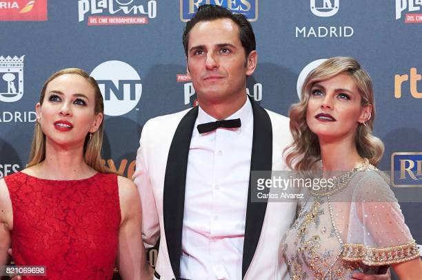 Marta Hazas Asier Etxeandia and Amaia Salamanca attend the Platino Awards 2017 photocall at the La Caja Magica on July 22 2017 in Madrid Spain