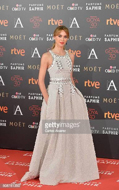 Marta Hazas attends Goya Cinema Awards 2016 at Madrid Marriott Auditorium on February 6 2016 in Madrid Spain