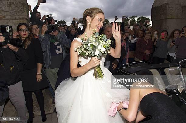 Marta Hazas attends her wedding ceremony at Palacio de la Magdalena on October 1 2016 in Santander Spain