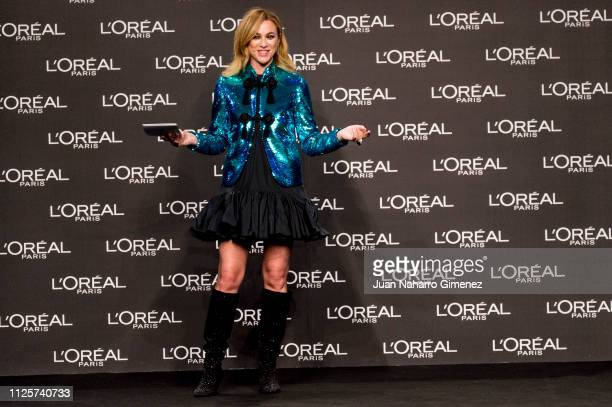 Marta Hazas attends L'Oreal Paris award during Mercedes Benz Fashion Week Madrid Autumn/Winter 201920 at Ifema on January 28 2019 in Madrid Spain