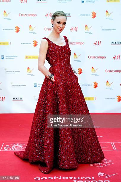 Marta Hazas attends the 'Solo Quimica' premiere during the 18th Malaga Spanish Film Festival at the Cervantes Theater on April 25 2015 in Malaga Spain