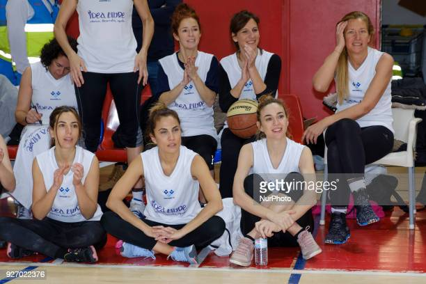 Marta Hazas Marta Belenguer Toni Acosta Malena Alterio and Candela Serrat during the charitable women's basketball game actresses vs explayers at the...