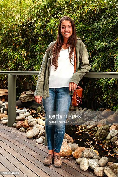 Marta is wearing a System action jacket Branding blouse Zara jeans Menorca Store shoes Branding handbag and Tous jewelry and a Yuhus watch at the...
