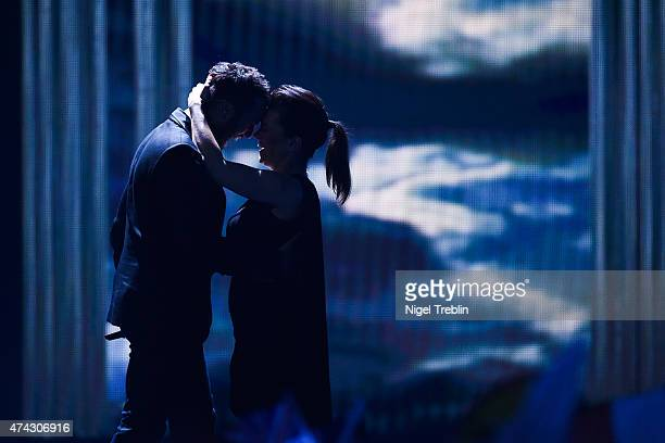 Marta Jandova and Vaclav Noid Barta of Czech Republic performs on stage during the second Semi Final of the Eurovision Song Contest 2015 on May 21,...