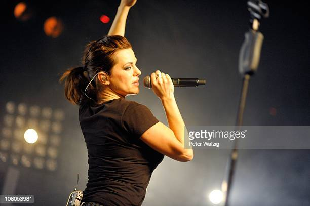 Marta Jandova of Die Happy performs on stage at the Live Music Hall on October 20 2010 in Cologne Germany