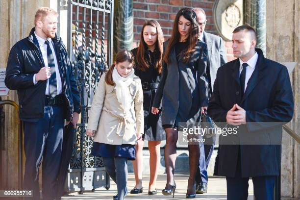 Marta Kaczynska the daughter of the late Polish President Lech Kaczynski and First Lady Maria Kaczynska at the end of the visit of a sarcophagus...