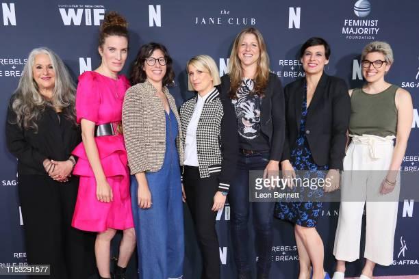 Marta Kauffman Liz Flahive Carly Mensch Liz Feldman Sophie Lanfear Stacey Wilson Hunt and Carmen Rios attend FYC Netflix Event Rebels And Rule...