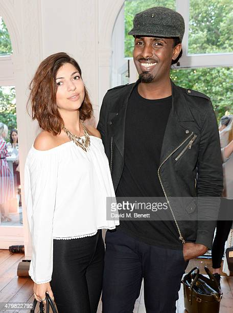 Marta Kopylenko and Mason Smillie attend the Vivienne Westwood X The Cambridge Satchel Company collaboration launch party at One Horse Guards on July...