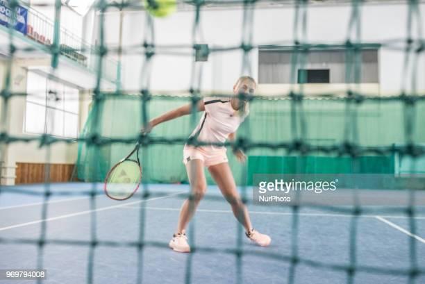 Marta Kostyuk at her training facility in Kiev Ukraine on February 2018 Marta Kostyuk is a Ukrainian tennis player In 2018 Kostyuk became the...