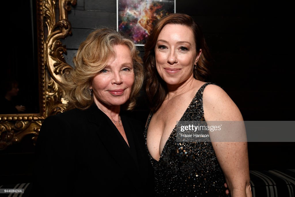 Marta Kristen and Molly Parker attend the Premiere Of Netflix's 'Lost In Space' Season 1 After Party at Le Jardin LA on April 9, 2018 in Los Angeles, California.