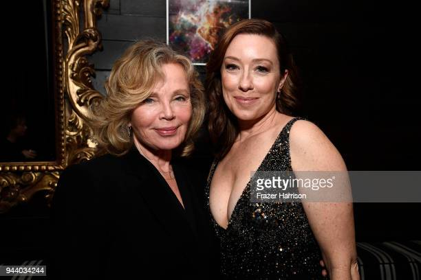 Marta Kristen and Molly Parker attend the Premiere Of Netflix's 'Lost In Space' Season 1 After Party at Le Jardin LA on April 9 2018 in Los Angeles...