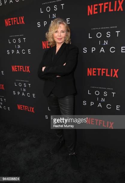 Marta Kristen attends Netflix's 'Lost In Space' Los Angeles premiere on April 9 2018 in Los Angeles California