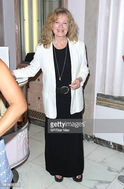Marta Kristen is seen on August 18 2016 outside Mel's Diner in Los Angeles