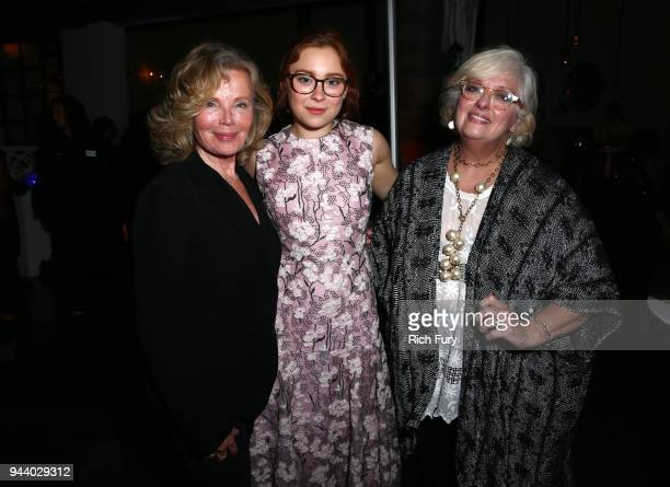 Marta Kristen Mina Sundwall and Angela Cartwright attend Netflix's 'Lost In Space' Los Angeles premiere on April 9 2018 in Los Angeles California