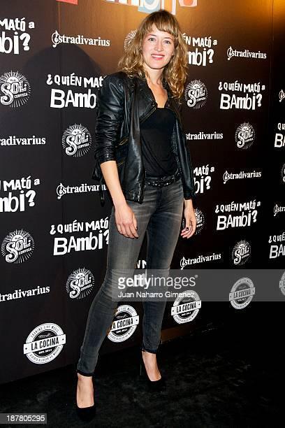 Marta Larralde attends 'Quien Mato a Bambi' premiere at La Cocina Rock Bar on November 12 2013 in Madrid Spain