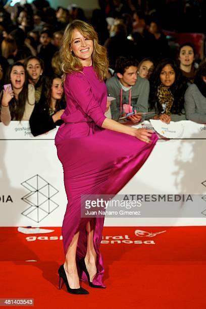 Marta Larralde attends the 17th Malaga Film Festival 2014 closing ceremony at the Cervantes Theater on March 29 2014 in Malaga Spain