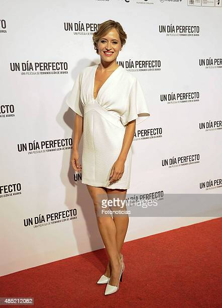 Marta Larralde attends the 'A Perfect Day' Premiere at Palafox Cinema on August 25 2015 in Madrid Spain