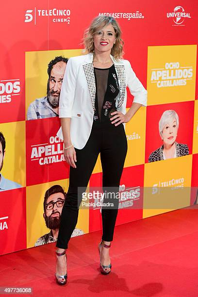 Marta Larralde attends the 'Ocho Apellidos Catalantes' Premiere at capitol Cinema on November 18 2015 in Madrid Spain