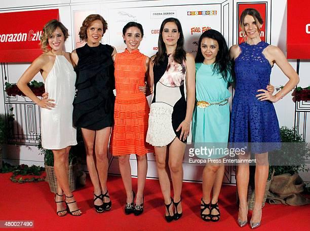 Marta Larralde Maria Casto Candela Serrat Cecilia Freijeiro Canda Diaz Mariona Tena attend 'Corazon Solidario' Awards 2015 on July 8 2015 in Madrid...