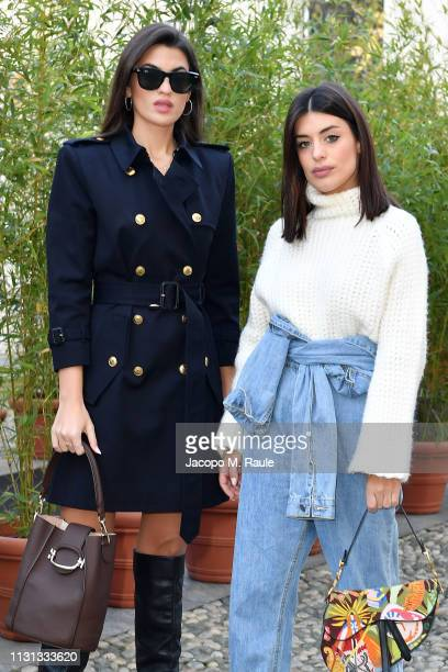Marta Lozano and Aida Domenech attend the Tod's show at Milan Fashion Week Autumn/Winter 2019/20 on February 22 2019 in Milan Italy