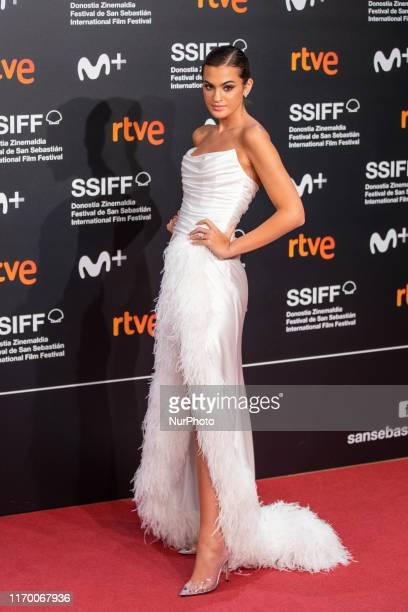 Marta Lozano attends the 'Mientras Dure La Guerra ' premiere during the 67th San Sebastian Film Festival in the northern Spanish Basque city of San...
