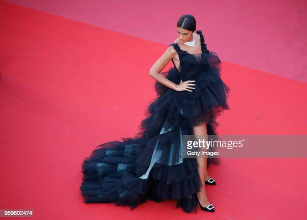Marta Lozano attends the screening of 'Capharnaum' during the 71st annual Cannes Film Festival at Palais des Festivals on May 17 2018 in Cannes France