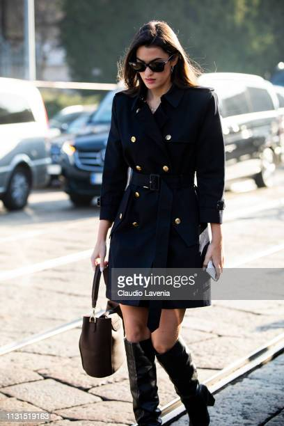 Marta Lozano is seen outside Tod's on Day 3 Milan Fashion Week Autumn/Winter 2019/20 on February 22 2019 in Milan Italy