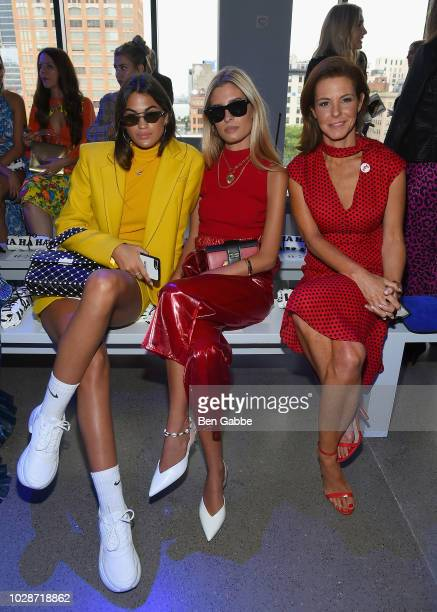Marta Lozano Pascual Teresa Andres Gonzalvo and Stephanie Ruhle attends the Milly by Michelle Smith front row during New York Fashion Week The Shows...