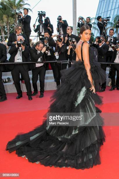 Marta Lozzano attends the screening of 'Capharnaum' during the 71st annual Cannes Film Festival at Palais des Festivals on May 17 2018 in Cannes...