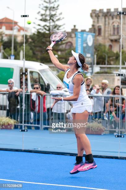 Marta Marrero in action during the World Padel Tour 2019 at Cascais Padel Masters in Estoril on September 22 2019