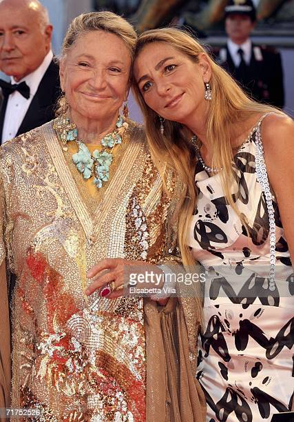 Marta Marzotto and daughter Diamante arrive at the opening ceremony and 'The Black Dahlia' premiere on the first day of the 63rd Venice Film Festival...