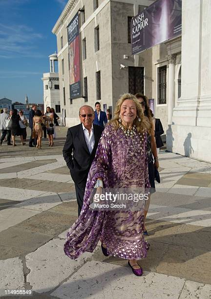 Marta Marzotto arrives for the press preview of Anish Kapoor installation Ascension at Basilica di San Giorgio on May 31 2011 in Venice Italy...