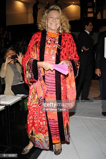 Marta Marzotto attends the Krizia show as a part of Milan Fashion Week Womenswear Spring/Summer 2014 on September 19, 2013 in Milan, Italy.