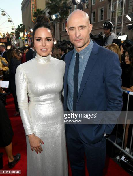 Marta Milans and Mark Strong arrive at the world premiere of Warner Bros Pictures and New Line Cinema's SHAZAM at TCL Chinese Theatre on March 28...